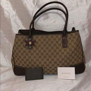 Authentic GUCCI GG Monogram Large Tote Bag